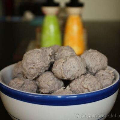 "How to Make Chinese meatballs – ""Ngau Yoke Yuen"""