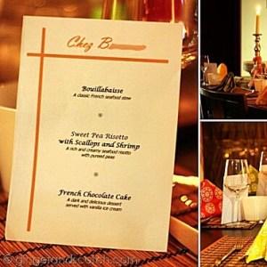 Come Dine With Me Dubai - Menu