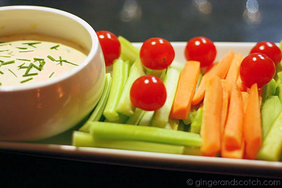 Crudités with French Onion Dip