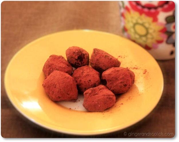 chilli safron truffles
