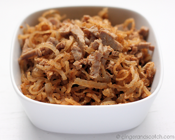 Shredded Pork and Pork Skin