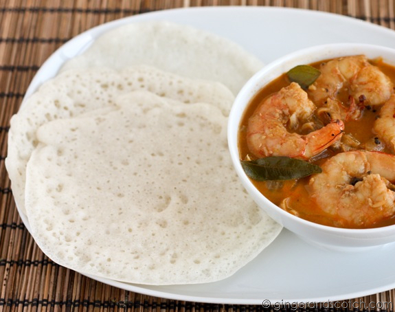 Appam and Shrimp Curry