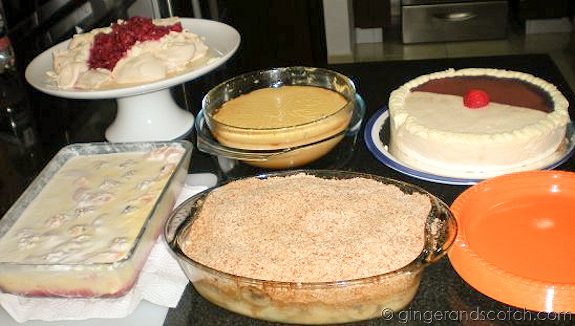 Thanksgiving Desserts 2008
