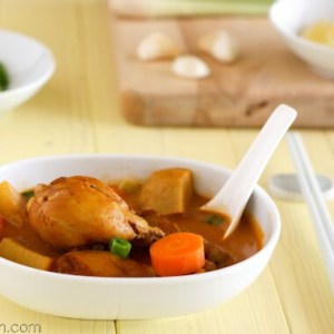 Vietnamese chicken curry soup