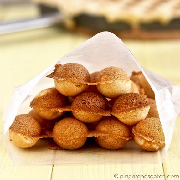 Hong Kong Egg Cakes (Gai Daan Jai) - or Egg Waffles