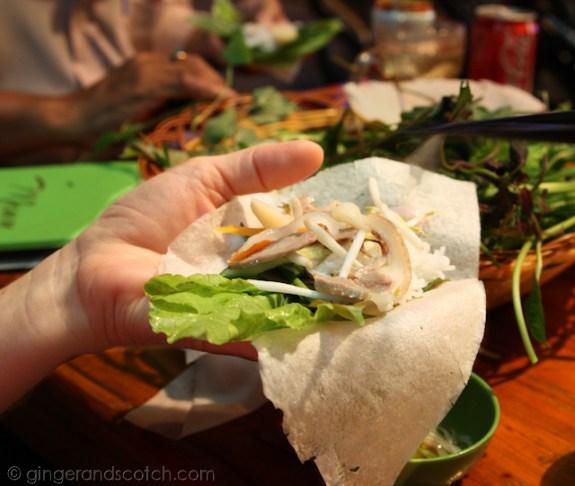 Assembling the Bánh Tráng