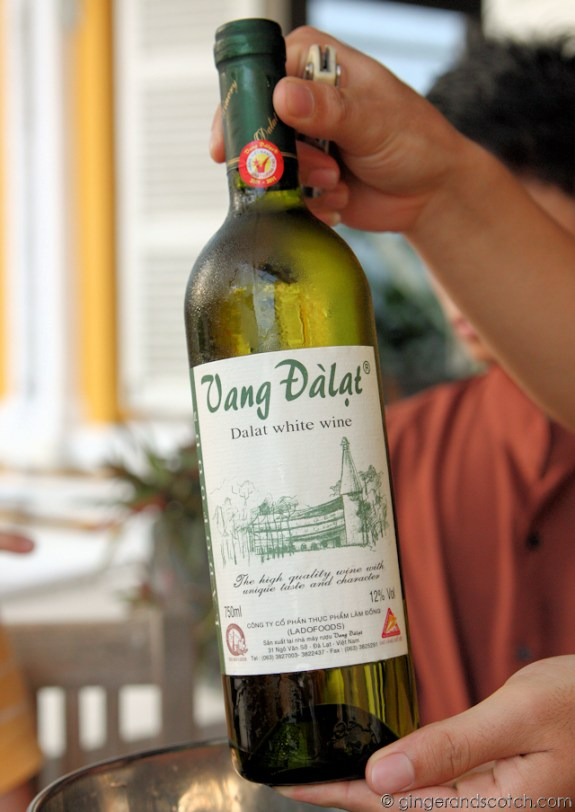 Vietnamese White Wine from Dalat