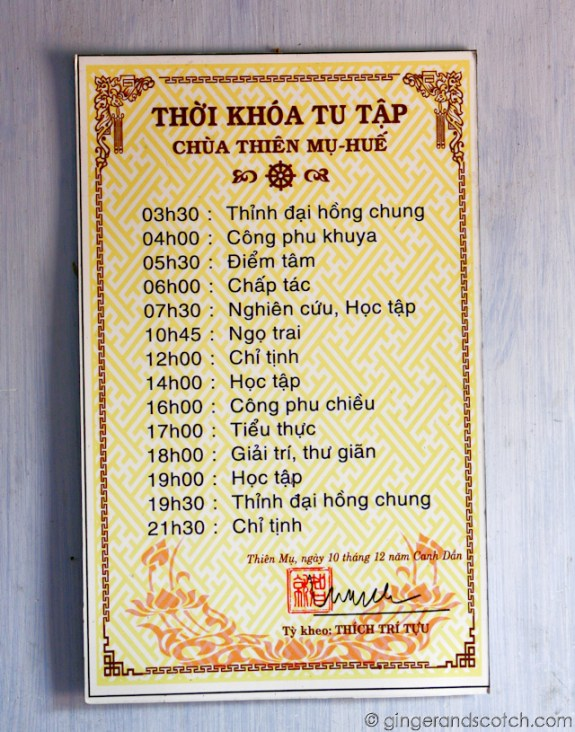 Monks Schedule
