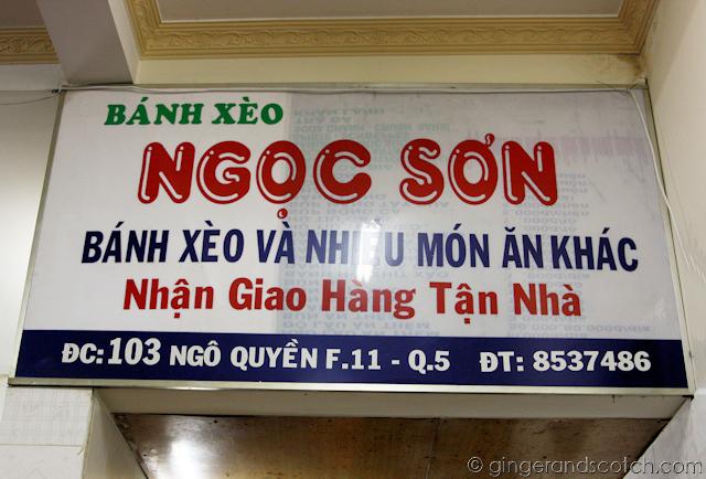Ngoc Son Restaurant - Saigon