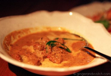 Curry of Kurobuta Pork w galangal and black pepper