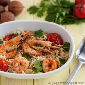 Emirati Cookbook Review: Sarareed & Emirati Recipe: Rubyan Moadam (Soaked Prawns)