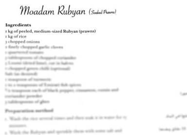 Moadam Rubyan - Soaked Shrimp