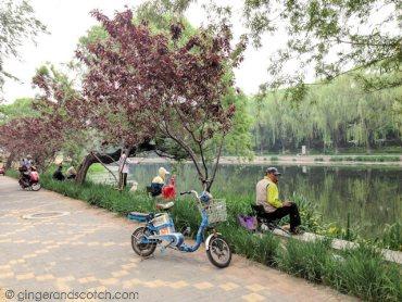 Running in Sanlitun Beijing