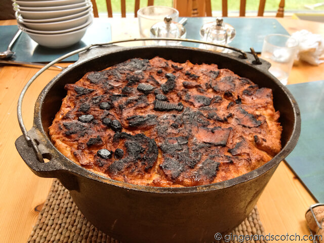 Bread Pudding on the Grill