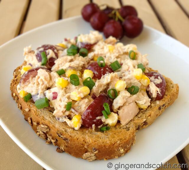 Tuna Salad with Fresh Corn