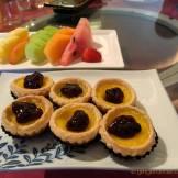 Shang Palace - Egg Tarts and Fruit Dessert