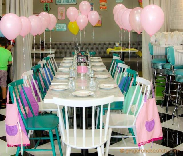 Party Setup at Ella's Creamery, Dubai Parks and Resorts