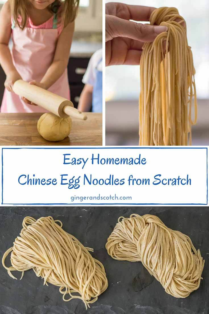 Easy and Homemade: Chinese Egg Noodles From Scratch  #homemadenoodles #eggnoodles #noodlesfromscratch #chinesenoodles #alkaline noodles
