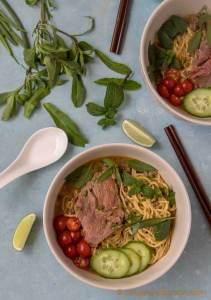 Vietnamese Mi Bo Sate