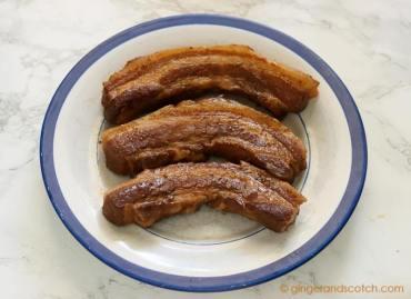 Braised Pork Belly in Soy-Mirin for Tonkotsu Ramen