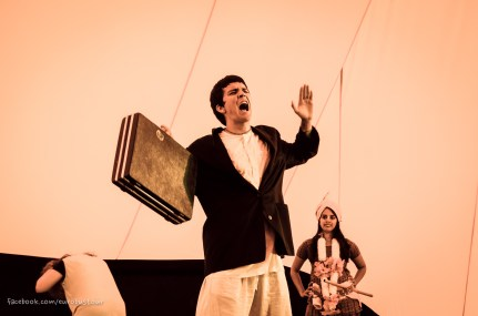 Theater performance at Radhadesh