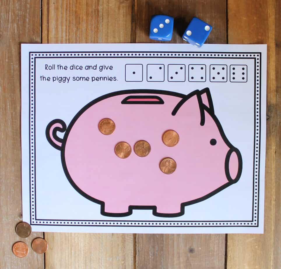 Feed The Piggy Bank Math Activity