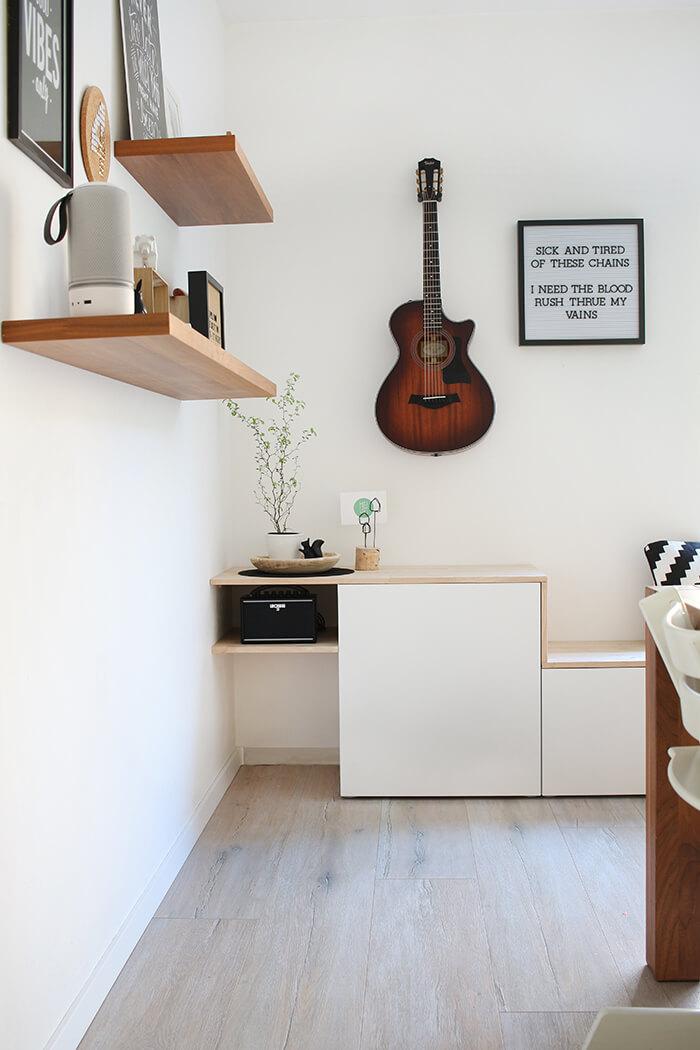 diy sideboard mit sitzbank aus besta von ikea selbst bauen gingered things