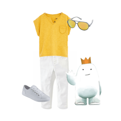 "Classic but trendy little boy's outfit inspired by Dan Santat's gorgeous illustrations in ""Beekle"""