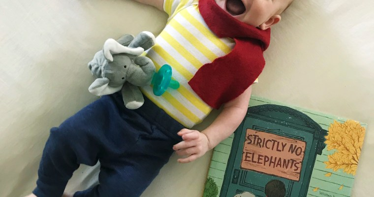 """Strictly No Elephants"" Baby Halloween Costume"