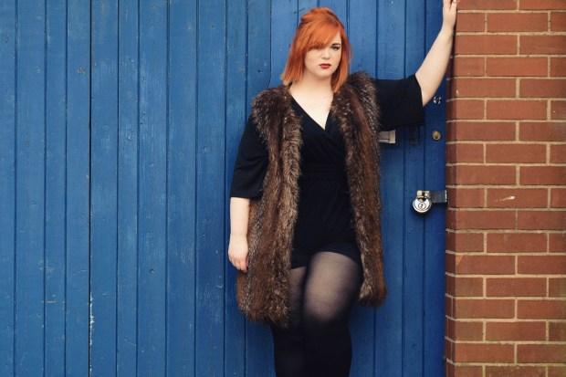 Ginger-Girl-Says-Pink-Clove-Plus-Size-Blogger-Pink-Clove-playsuit-Carvella-Bag-Rocket-Dog-boots-full