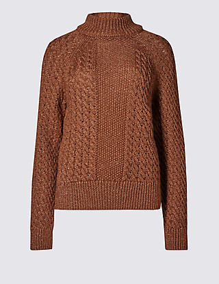 Marks-and-Spencer-Copper-Cable-Jumper