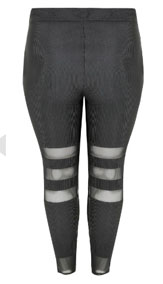 Yours Clothing Plisse Mesh Leggings
