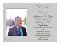 Matt's Grad Announcement: Inside