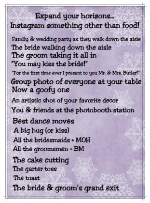Wedding table fun/decor: Back