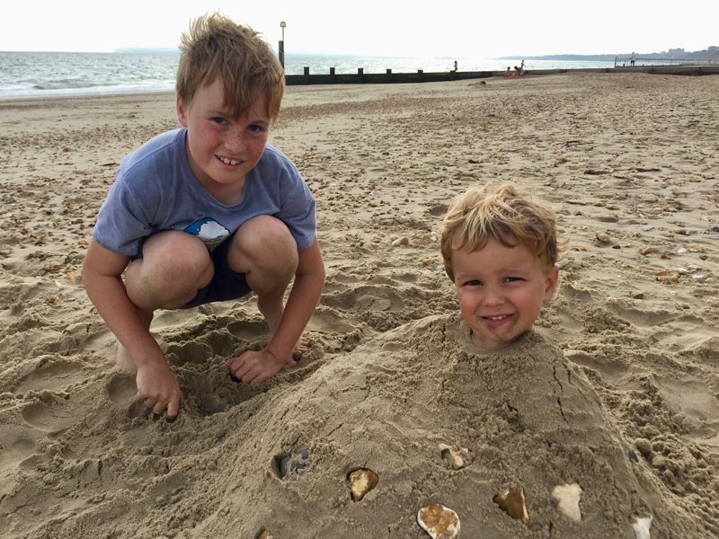 Southbourne cousin sand buried
