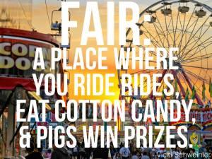 Fair: a place where you ride rides