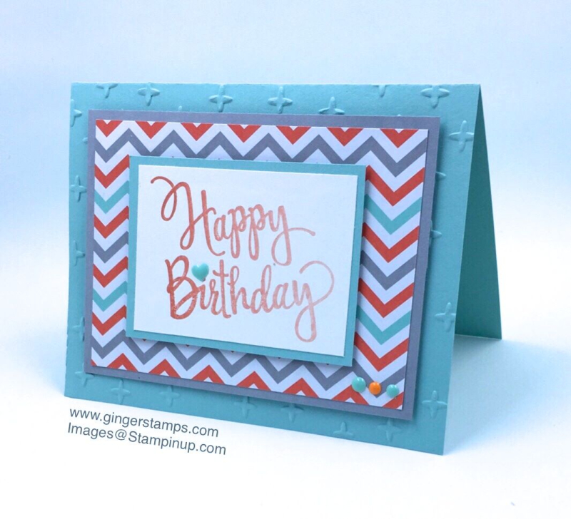 A Ginger Snap! A Quick & Easy Masculine Birthday Card!