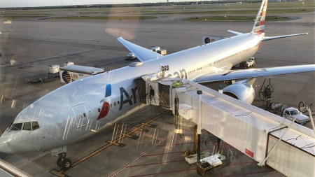 American Airlines 777-300ER at DFW Terminal D