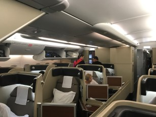 Qantas A380 first class cabin looking rearward
