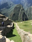 A geological fault at Machu Picchu