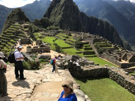 Overview of the site at Machu Picchu