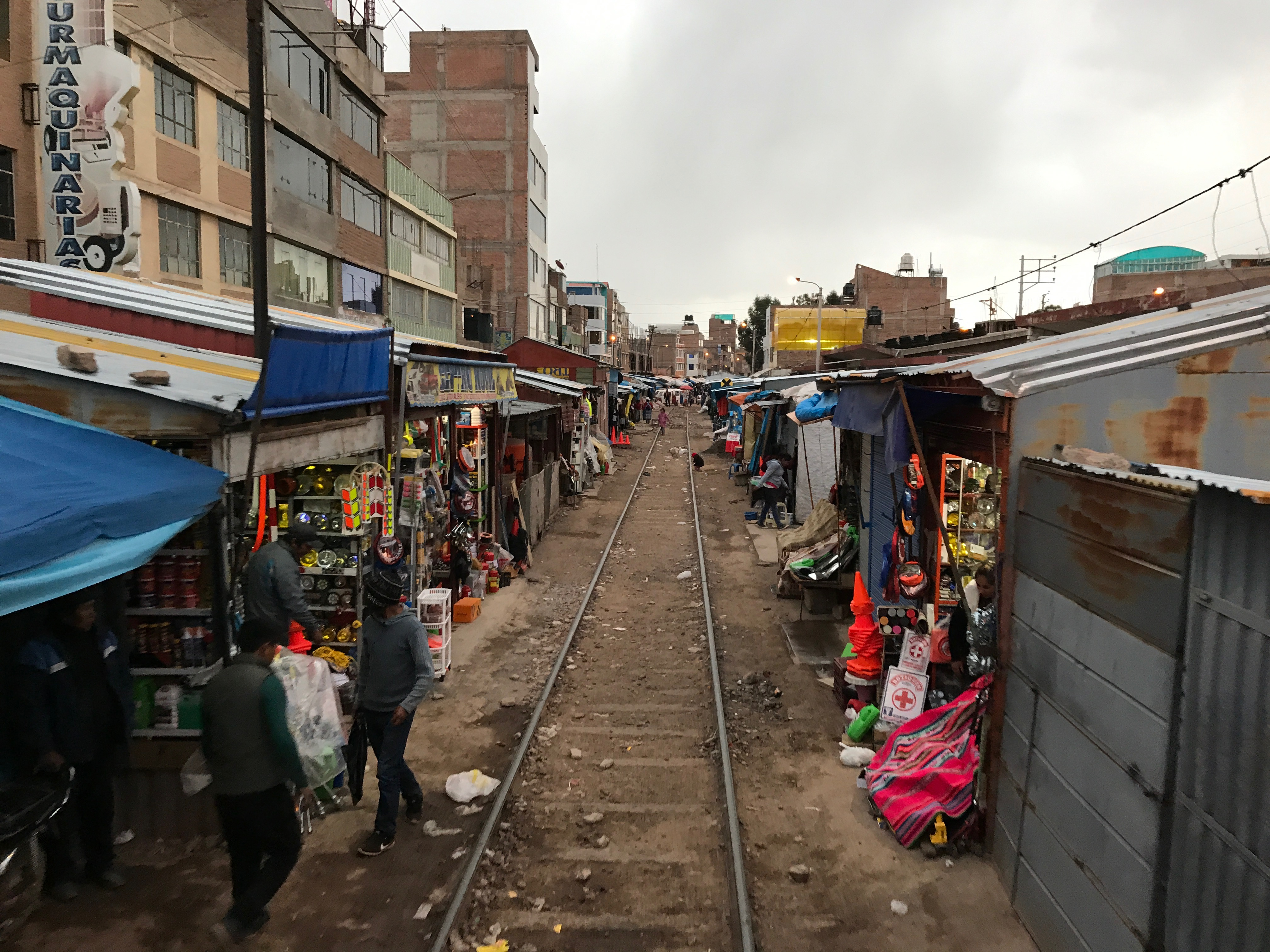 The market around the Andean Explorer rail line