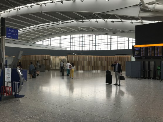 Entrance to the first wing at Heathrow terminal 5