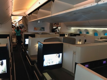 Etihad 787-9 Business Studio cabin overview