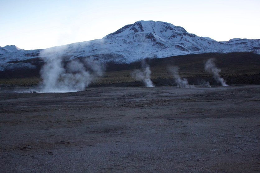 The mountains over the Tatio Geysers