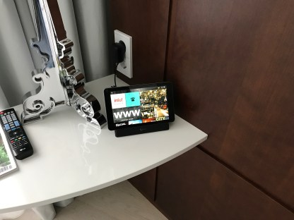 Ruby Lilly hotel Munich in room tablet