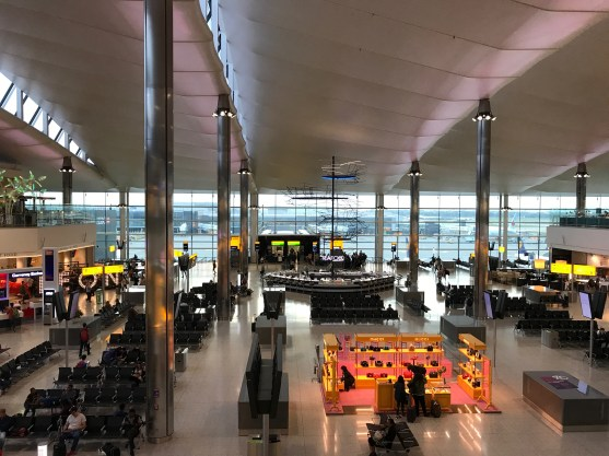View of the departures area of Heathrow Terminal 2 The Queen's Terminal
