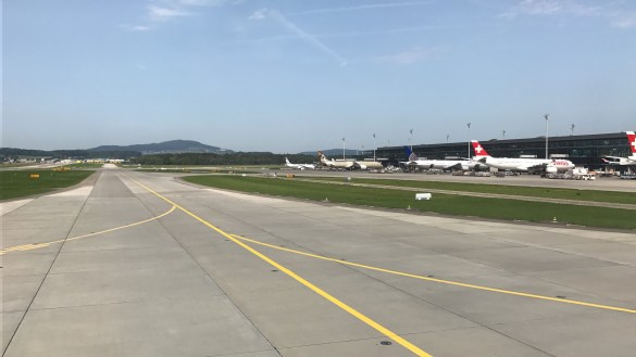 View over the apron at Zurich Airport