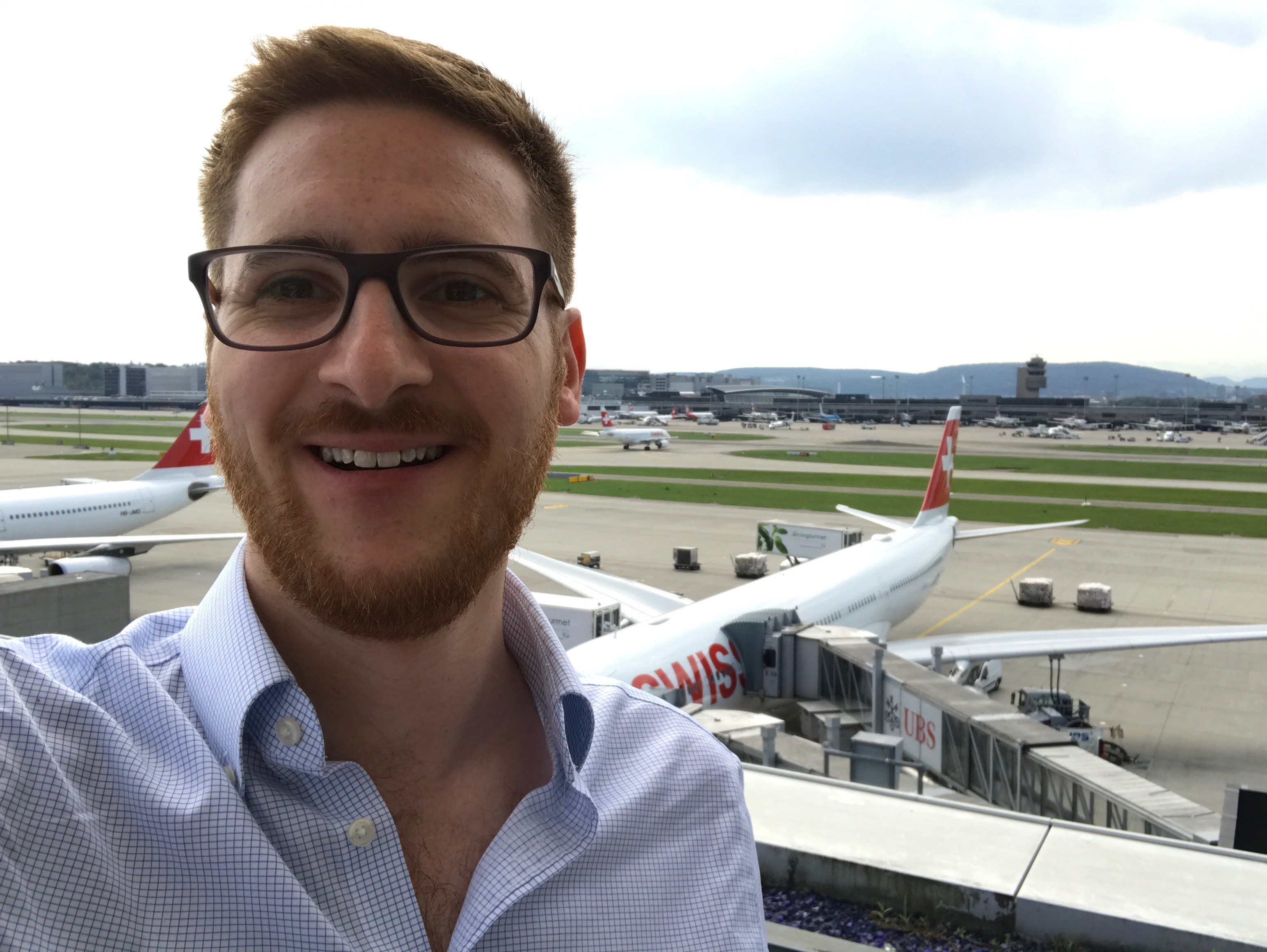 The Ginger Travel Guru at the Swiss First Class Lounge at Zurich