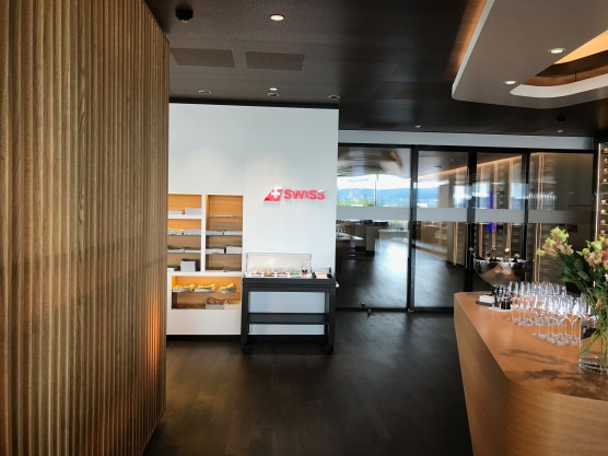 Swiss First Class Lounge at Zurich entrance